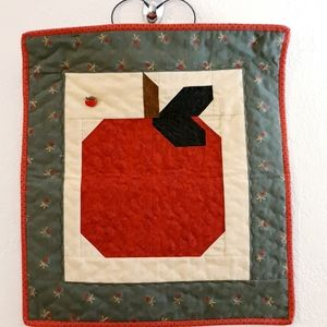 Quilted Square Wall Art - Apple